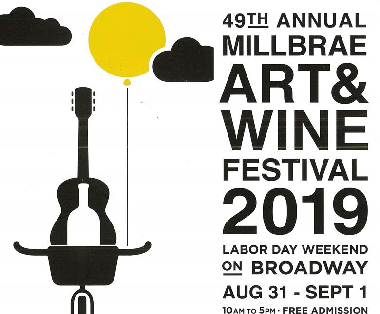 49th Millbrae Art & Wine Festival, August 31–September 1. 10:00 am-5:00pm